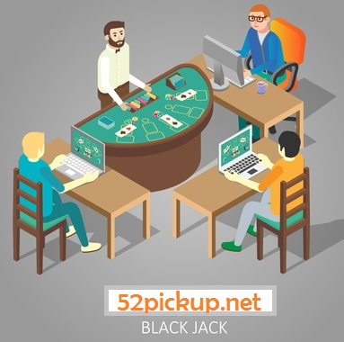 Picture of playing blackjack game